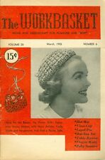 1955 The Workbasket Magazine: Crochet Bag & Hat/Infant V-Neck Sweater/Visor Cap