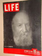 Life Magazine October 23, 1944  Navy Fliers, Colorado river,  WWII History VG