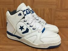 Vintage�� Converse CONS Official NBA Shoes White Leather Royal Blue Sz 8.5 Great