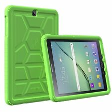 For Samsung Galaxy Tab S2 9.7 Green Turtle Skin Corner/Bumper Protection Case