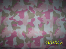 New Pink Mist Camouflage Fleece Fabric by the 1/4 yard camo