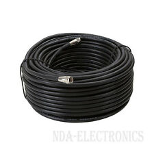 100 FT Coaxial Digital Cable for Satellite TV VCR Video Wire Coax Black