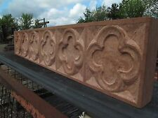 Hand Carved INGLENOOK Fireplace STONE QUATREFOIL TRACERY (UK Craftsman)