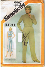 Vtg 80s Button Up Down Front Jumpsuit Simplicity 9927 LEAL Sewing Pattern Sz 12