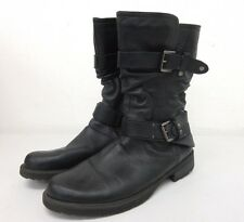 Earth Women's  Everwood Leather Mid Calf Black Boot Size: 11