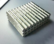 """1 Large Neodymium Cylinder Disc Magnet. Super strong N52 Rare Earth 1"""" × 1/2"""""""