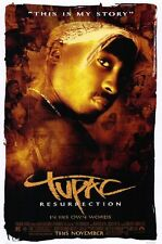 Tupac Resurrection  - original movie poster 27x40