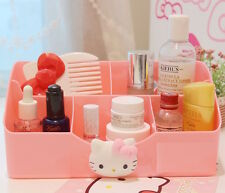 Pink Hello Kitty Organiser remote stationery storage toiletries holder plastic