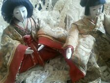 Antique Pair Gofun Japanese Dolls Male Female Ningyo Asian Doll Collectors