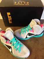NIKE LEBRON 9 ELITE SOUTH BEACH P.S. MIAMI VICE PRE HEAT OG DS SIZE 9