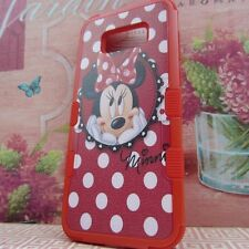 for Samsung Galaxy S8 Plus Red Rugged Hybrid Armor Cover Case Minnie Mouse #RP