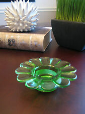 New Green Flower Shaped Glass Display Orb Ball Sphere Stand