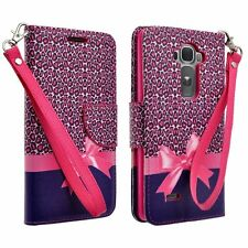 For LG G Stylo / G Stylus (LS770) Hybrid PU Leather Wallet Pouch Case Flip Cover