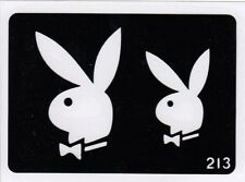 GT213 Body Art Temporary Glitter Tattoo Stencil Playboy Bunny