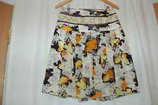 Ilo and Fred Silk Pleated Skirt Made in France Size 36