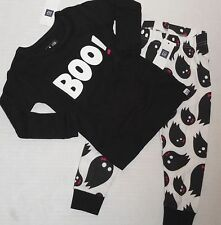 BABY GAP Girl's Black & White BOO Pajamas Size 3 Years