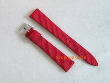 Blancpain Red Fabric Strap 15mm with Blancpain Stainless Steel Buckle New !