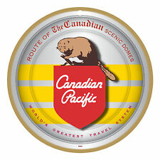 Canadian Pacific RR Beaver Logo Wood Plaque-Sign /Man Cave/Train & Kids Room