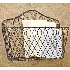 New Primitive French Country Chic Rustic WIRE WALL BASKET Vegetable Fruit Bin
