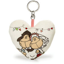 NICI Jolly Mah Bride and Groom Just Married Plush Keyring