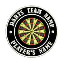 9cm Custom Made Personalised Team Club Darts Embroidered Badge Name Tournament