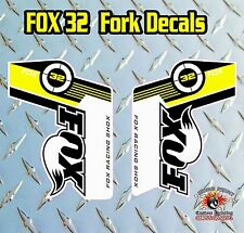 Fox 32 2014 FORK Stickers Decals Graphics Mountain Bike Down Hill MTB YELLOW