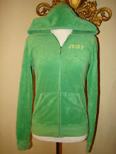 JUICY COUTURE GREEN TERRY CLOTH TRACKSUIT JACKET HOODI HOODED SMALL