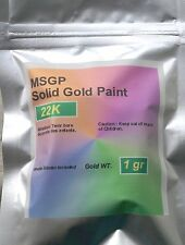 Solid Gold Paint paste 22k pure gold 1 Gram, Metal Art Solid Gold plating 1g