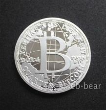 Bitcoin BTC Physical Coin Silver plated 1 Ounce Collection 2014