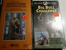 Tree-Stand Techniques for Hunting Big Game VHS + Big Bull Challenge Quaker Boy
