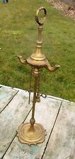 Antique  Whale Oil Lamp Brass Burner Lucerne 19th Century key scissors Nice