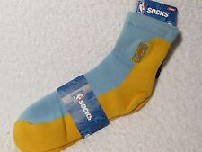 NEW NBA BASKETBALL Logoman Player Crew Socks Mens Large Size LIGHT BLUE & GOLD