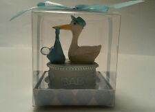 STORK BABY SHOWER BLUE CAKE TOPPER PARTY TABLE DECORATION FAVOR FIGURINE