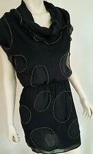 ☆Robert Rodriguez Black Tunic Silk  Dress, Size 2, Free Shipping