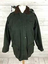 Women's Vintage Wax Jacket/Coat - UK12 - Green - Great Condition