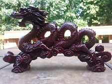 "Chinese Feng Shui Dragon Statue Lucky Wealth Figurine Gift & Home 11"".5 L"