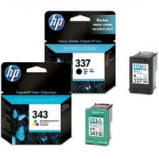 1 X HP 337 Black C9364EE + 1 X 343 COLOUR INK C8766EE Original Inkjet Cartridges