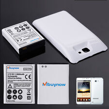 6000mAh Extended Battery+White Back Cover for Samsung Galaxy Note GT-N7000