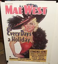 "MAE WEST ""EVERY DAY'S A HOLIDAY"" ADOLPH ZUKOR COLOR 1977 POSTER"