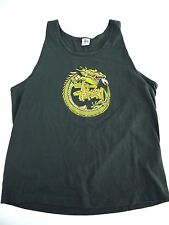 VINTAGE 90s STUSSY tank top t shirt mens XL MADE IN USA dragon RARE