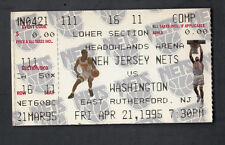 New Jersey Nets vs Wash Bullets 1995 Ticket stub Kenny Anderson & D Coleman