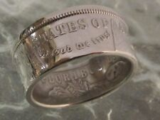 Morgan Coin Ring Size 13.0  IN GOD WE TRUST 90% Silver 1921 Dollar Lot K1 Tails