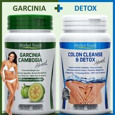 120 DIET PILLS 60 GARCINIA CAMBOGIA CAPSULES + 60 COLON CLEANSE WEIGHT LOSS PILL