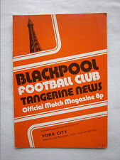 Orig.PRG   England  2.Division 1974/75   BLACKPOOL FC - YORK CITY FC  !!