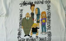 STUSSY MTV BEAVIS & BUTTHEAD T TEE SHIRT SZ. MEDIUM M NEW 100% authentic NEW $$$