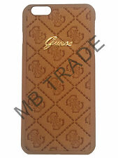GENUINE GUESS SCARLETT COLLECTION LEATHER BACK CASE FOR IPHONE 6/6S COVER BIEGE