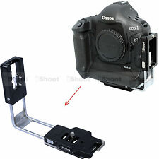 L-Bracket Vertical Quick Release Plate for Canon EOS 1DX 1DC Camera Battery Grip