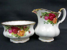 OLD COUNTRY ROSES MILK JUG & SUGAR BOWL, 1st QUALITY, GC, 1962-73, ROYAL ALBERT