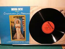 Indra Devi: Concentration & Meditation (StrongVG Mace Septer LP) India Hindu