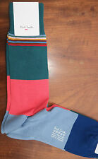 Paul Smith Mens Mid Length Socks Multi Top Block Red F711/3 One Size Cotton Mix